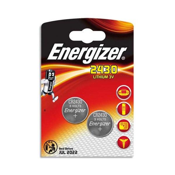 ENERGIZER Blister de 2 piles lithium CR2430 (photo)