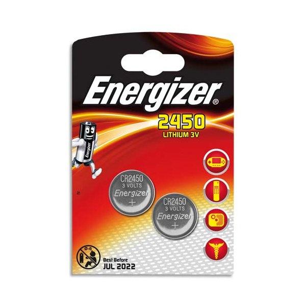 ENERGIZER Blister de 2 piles lithium CR2450 (photo)