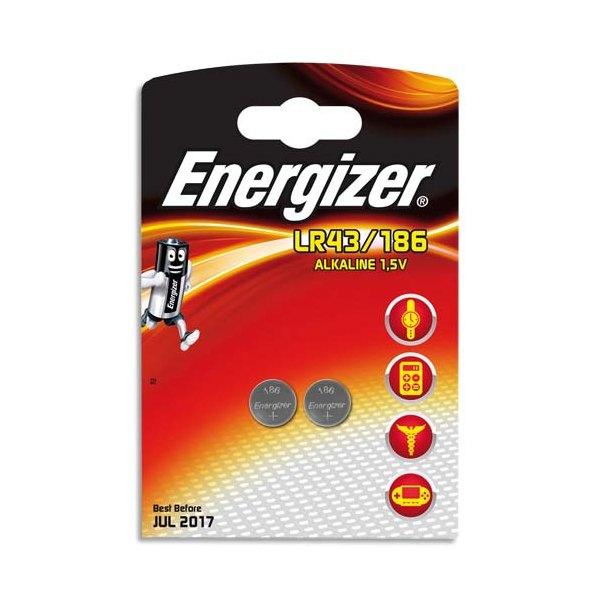 ENERGIZER Blister de 2 piles mini LR43/186 (photo)