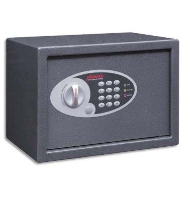 PHOENIX Coffre-fort compact 18 litres serrure électronique. Dimensions (l x h x p) : 34 x 24 x 21 cm SS0802E