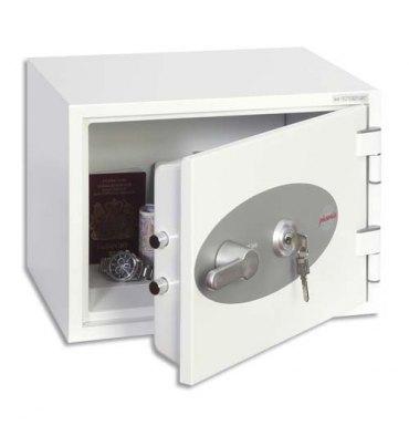 PHOENIX Coffre-fort ignifugé 1 heure acier serrure à clé Titan 16 litres - 41 x 30,8 x 34,2 cm gris FS1271K