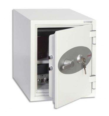 PHOENIX Coffre-fort ignifugé 1 heure acier serrure à clé Titan 25 litres - 35,2 x 42 x 43,3 cm blanc FS1272K