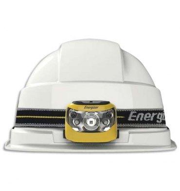 ENERGIZER Lampe frontale 5 leds noire adaptable sur casques autonomie 25h portée 80m 3 types d'attaches