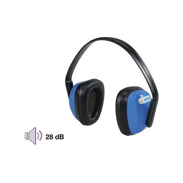 Casque Eco 28 Db serre-tête ajustable coquilles polystyrène coussinets rembourrés 188g EN 352-1