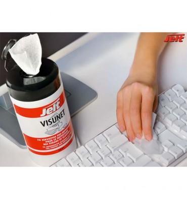 JELT Boîte distributrice de 70 lingettes Visunet antistatiques