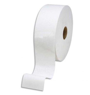 HYGIENE Colis de 12 Mini rouleaux de Papier toilette Jumbo 2 plis L150m Largeur 19 cm blanc