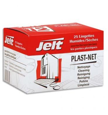 JELT Boîte de 25 lingettes Plast-Net