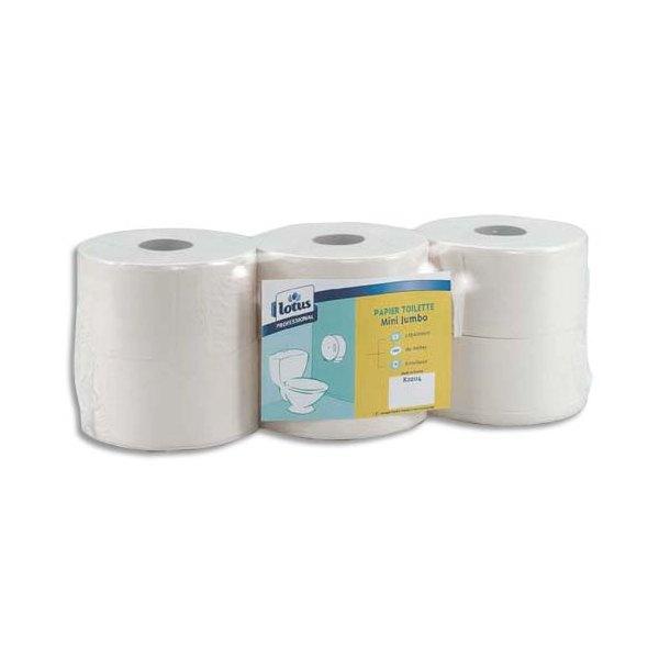 TORK Lot de 6 Bobines de Papier toilette Maxi Jumbo Advanced 2 plis longueur 380 m x diamètre 26 cm blanc uni