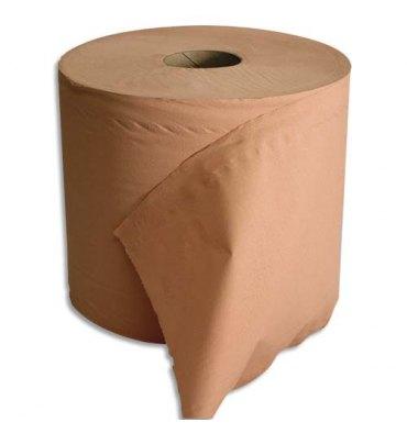 HYGIENE Lot de 2 Bobines d'essuyage 2 plis 1000 formats 30 x 21 cm - L300 m, bobine D25 cm chamois Eco