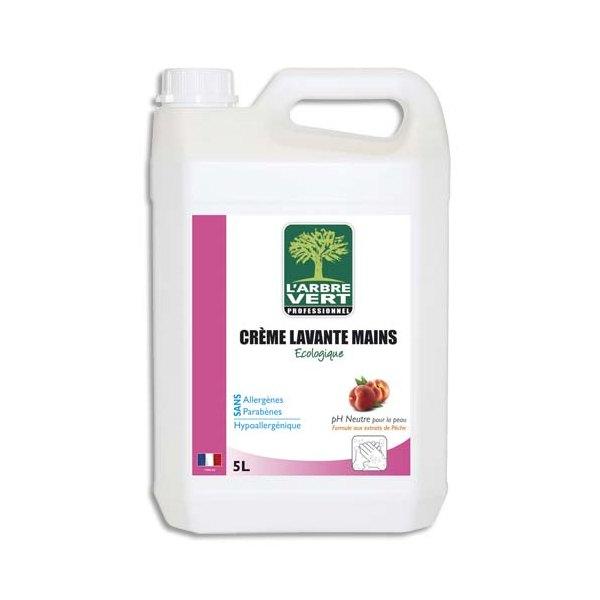L'ARBRE VERT Crème lavante pour les mains bidon 5 L - contre les odeurs tenaces - parfum pêche