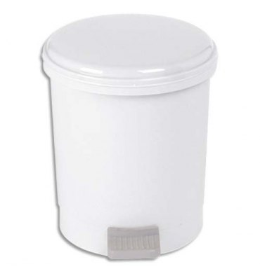 HYGIENE Poubelle à pédale pour sanitaire économique capacité 3 litres - Diamètre 17,5, hauteur 21 cm