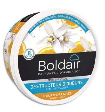 BOLDAIR Gel solide de 300 gr, destructeurs d'odeurs parfum fleur d'oranger