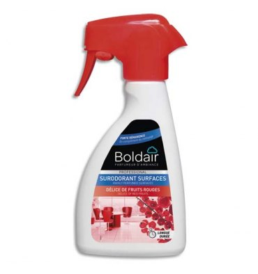 BOLDAIR Spray 250 ml sur-odorant surfaces, parfaum Délices de fruits rouges