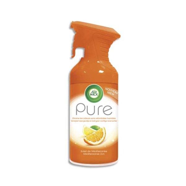 AIRWICK Désodorisant d'atmosphère Pure 250 ml formule sans eau parfum concentré soleil de Méditérranée (photo)