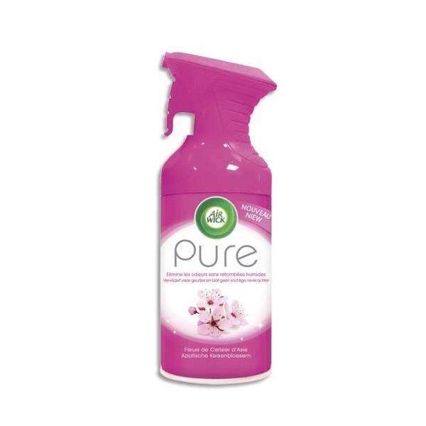 AIRWICK Désodorisant d'atmosphère Pure 250 ml formule sans eau parfum concentré fleurs de cerisier d'Asie (photo)