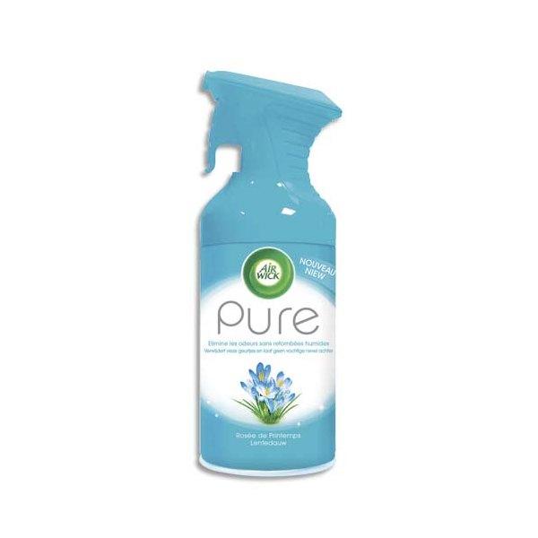 AIRWICK Désodorisant d'atmosphère Pure 250 ml formule sans eau parfum concentré rosée de Printemps (photo)