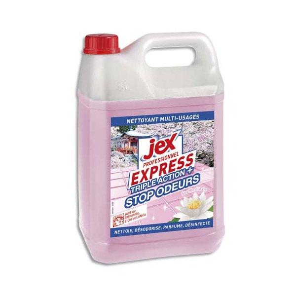JEX Professionnel Express Bidon de 5L Nettoyant multi-usages triple action+ plus parfum Souffle d'Asie