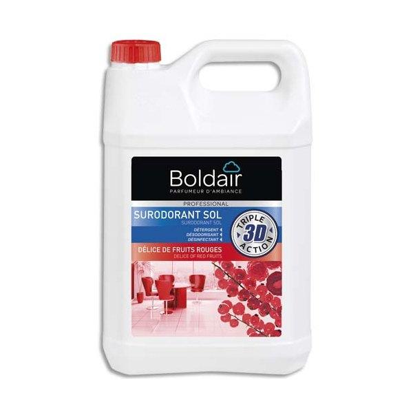 BOLDAIR Bidon 5 Litres 3D Sur-odorant sols détergent désodorisant désinfectant Délices de fruits rouges