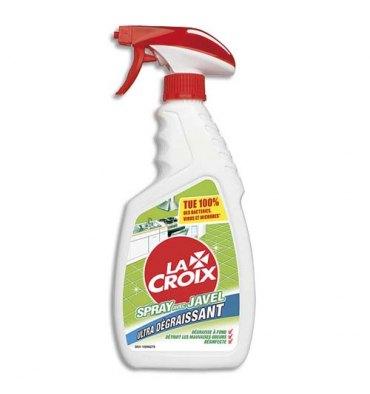 LA CROIX Spray 500 ml Javel ultra dégraissante Bactéricide Fongicide