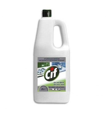 CIF Bidon de 2 Litres Gel Nettoyant javellisé pour tâches difficiles sols et surfaces