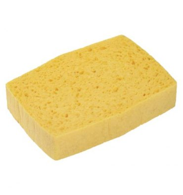 SPONTEX Lot de 10 Eponges tradition n°4 Azella jaune - 14,4 x 2,8 x 10,1 cm