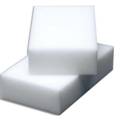 VILEDA Paquet de 12 Gommes nettoyantes en résine de mélamine Miraclean - 10 x 2,8 x 6 cm blanc
