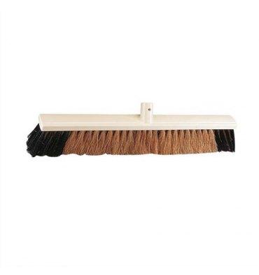 BROSSERIE THOMAS Balai coco moustache et PVC d'intérieur ou d'extérieur Largeur 60 cm