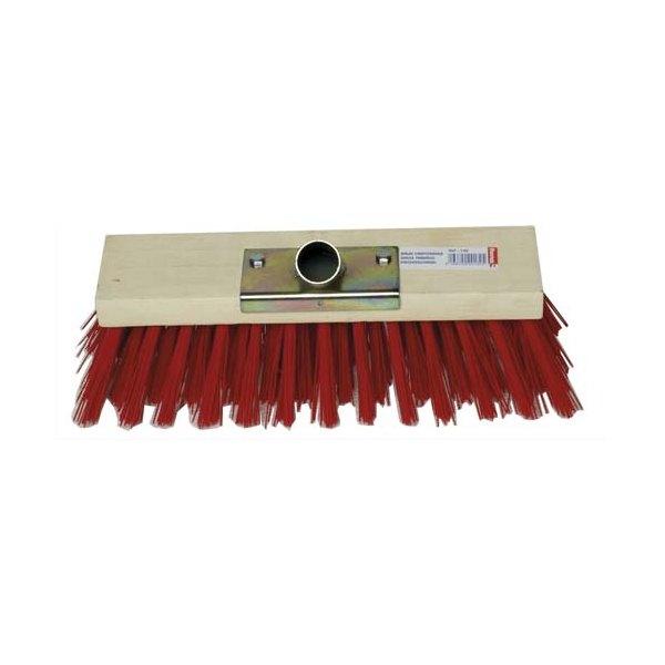 BROSSERIE THOMAS Balai cantonnier d'extérieur monture bois fibre PVC douille en métal Largeur 30 cm