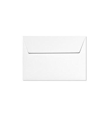 CLAIREFONTAINE Paquet de 20 enveloppes 120g POLLEN 9 x 14 cm. Coloris blanc