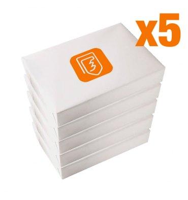 5 Cartons de 5 ramettes 500 feuilles de papier A4 80g - la ramette au prix unitaire de 2,76€