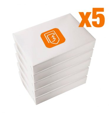 5 Cartons de 5 ramettes 500 feuilles de papier A4 80g - la ramette au prix unitaire de 2,86€