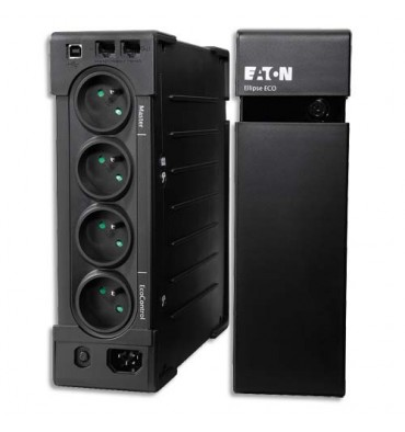EATON Onduleur professionnel Ellipse ECO 1200 USB FR, éco énergétique avec parafoudre intégré