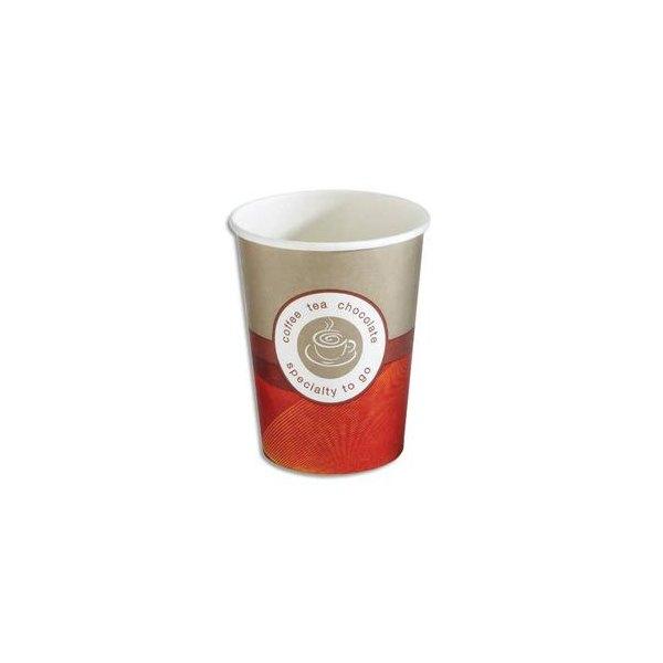 HUHTAMAKI Sachet de 50 gobelets 25 cl boissons chaudes en carton épais (photo)
