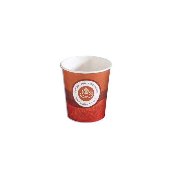 HUHTAMAKI Sachet de 80 gobelets 10 cl café en carton épais (photo)