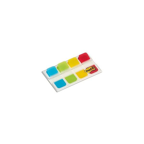 POST-IT Blister de 40 mini marque-pages rigides couleurs classiques