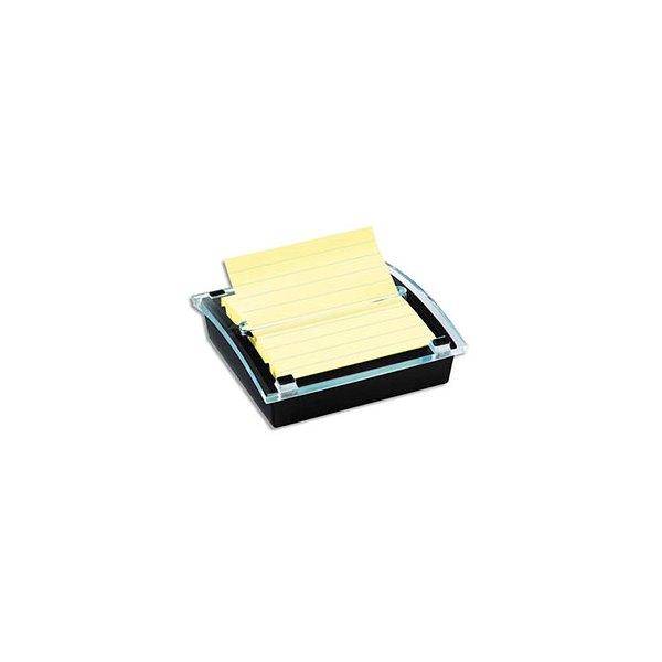 POST-IT Dévidoir Z-notes Millénium pour notes 10,1 x 10,1 cm, livré avec 1 bloc 90 feuilles jaune