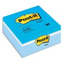 POST-IT Cube 3 couleurs assortis bleu, 400 feuilles 76x76 mm assortis