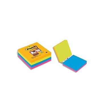 """POST IT Cube de 4 blocs Super Sticky """"Easy Select"""" 74 feuilles lignées 7,6 x 7,6 cm"""