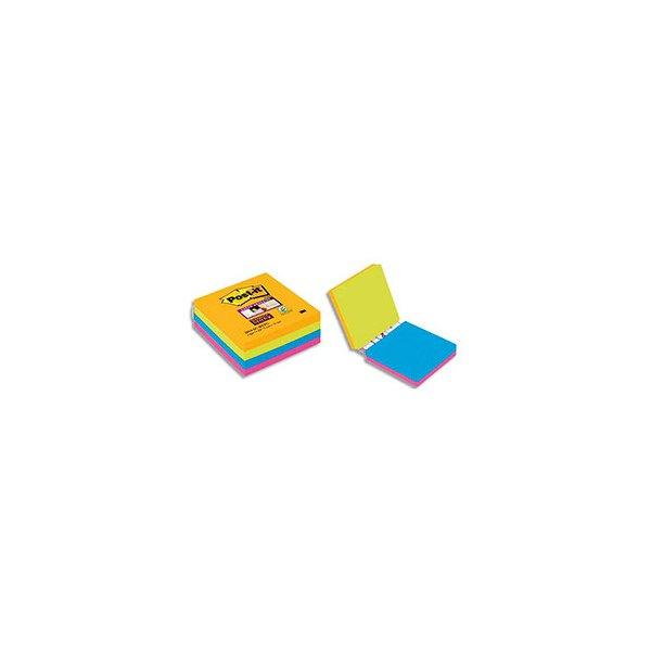 POST IT Cube de 4 blocs Super Sticky