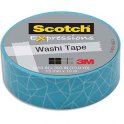 SCOTCH Ruban Expressions Washi Tape Bleu Ecaille 15 mm x 10 m