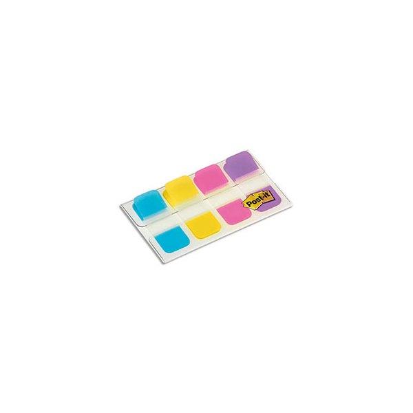 POST-IT Blister de 40 mini marque-pages rigides couleurs vifs 1,58 x 3,8 cm
