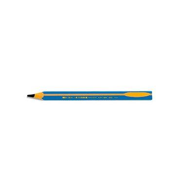 BIC Crayon graphite BEGINNERS avec mine HB 4mm et un corps bleu pour gauchers et droitiers