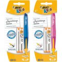 Bic Blister 1 porte-mines rechargeable BEGINNERS + 12 mines. Mine HB 1,3 mm. Corps bleu ou rose
