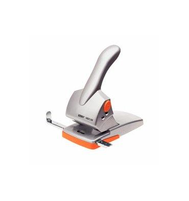 RAPID Perforateur 2 trous Duax, coloris gris et orange, capacité 65 feuilles