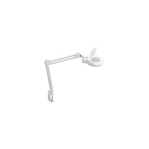 MAUL LampeViso loupe LED, blanc, 90 LED intégrées, bras métal, orientable sur 360°, avec pince