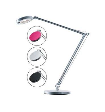 HANSA Lampe led 4You - 3 coloris de disque pour la tête - Double articulation en aluminium - base métal