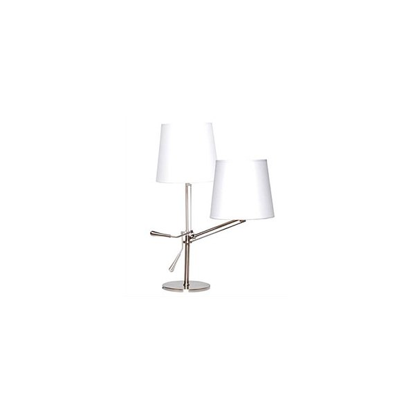 UNILUX Lampe abat-jour réglable en inclinaison. Led 12W E27, 20 000h, 68 lm/W Interrupteur sur cordon Classe A