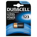 DURACELL Blister de 1 pile 123 Ultra Lithium Duralock pour appareils photos