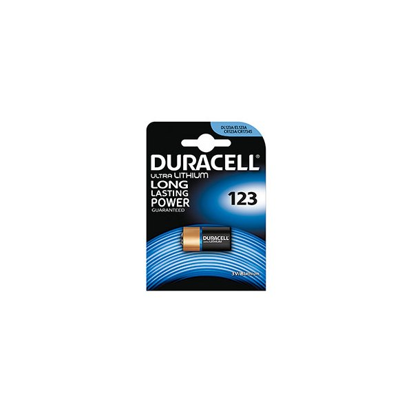 DURACELL Blister de 1 pile 123 Ultra Lithium Duralock pour appareils photos (photo)