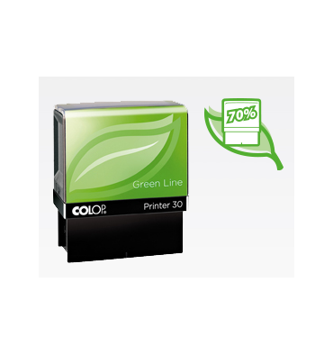 COLOP Tampon PRINTER 20 Green Line - 4 lignes max
